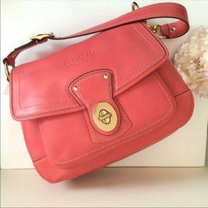 NWT $398 COACH Legacy Leather Flap Handbag Purse